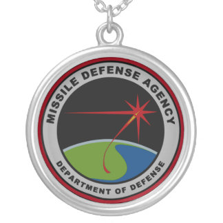 Missile Defense Agency (MDA) Silver Plated Necklace