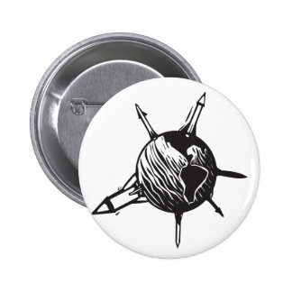 Missile Earth Pinback Button