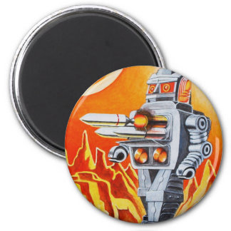 MISSILE ROBOT 2 INCH ROUND MAGNET