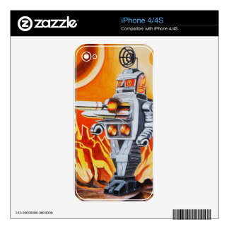 MISSILE ROBOT SKINS FOR THE iPhone 4