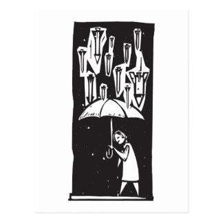 Missile Umbrella Postcard
