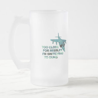 Missiles Switch Guns Frosted Glass Beer Mug