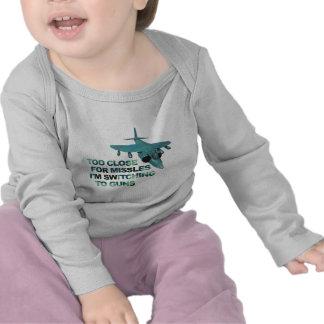 Missiles Switch Guns T-shirts