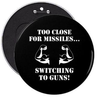 Missiles To Guns Pinback Button