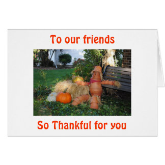 MISSING BEST FRIENDS AT THANKSGIVING CARD