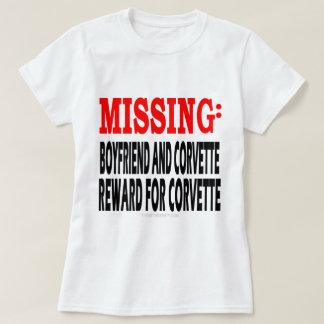 Missing Boyfrien and Corvette: Reward for Corvette T-Shirt