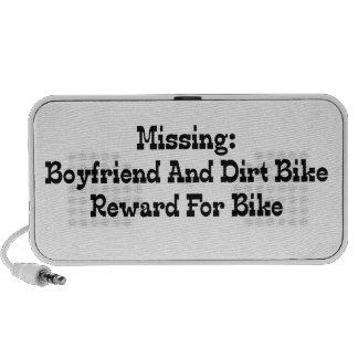 Missing Boyfriend And Dirt Bike Reward or Bike Travelling Speaker