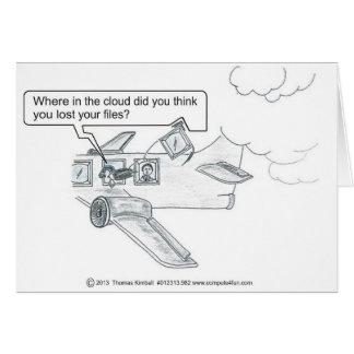 Missing Cloud Files Greeting Card