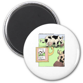 Missing Cow Funny Cartoon Gifts & Collectibles Refrigerator Magnet