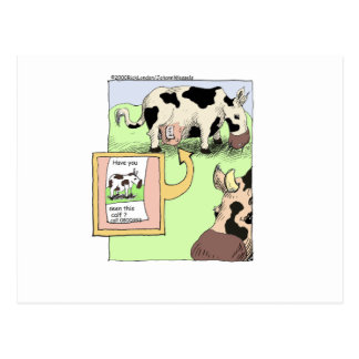 Missing Cow Funny Cartoon Gifts & Collectibles Postcard