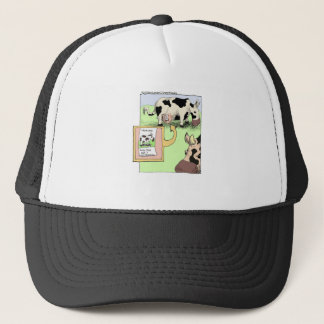 Missing Cow Funny Cartoon Gifts & Collectibles Trucker Hat