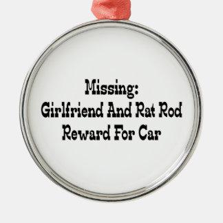Missing Girlfriend And Rat Reward For Car Metal Ornament