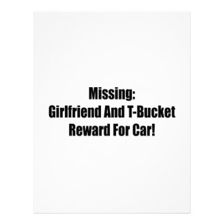 Missing Girlfriend And Tbucket Reward For Car Personalized Letterhead