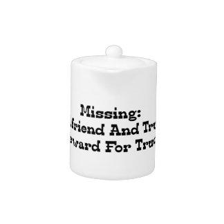 Missing Girlfriend And Truck Reward For Truck Teapot