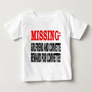 Missing Girlfriend & Corvette Reward for Corvette Baby T-Shirt