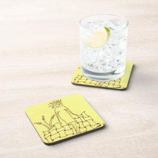 Missing Glasses Drink Coaster