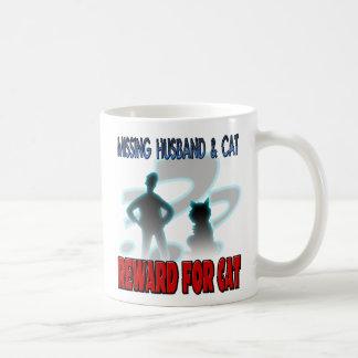 Missing Husband and Cat Classic White Coffee Mug