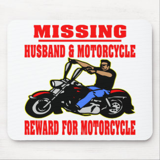 Missing Husband And Motorcycle Reward For Motor Mouse Pad
