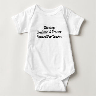 Missing Husband And Tractor Reward For Tractor Baby Bodysuit