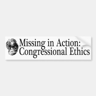 Missing in Action: Congressional Ethics Bumper Sticker
