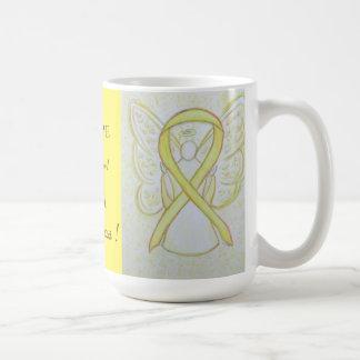 Missing in Action (MIA) Awareness Ribbon Angel Mug