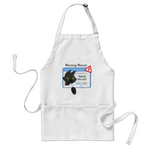 Missing Mouse? Spank the cat! Adult Apron