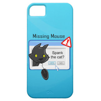 Missing Mouse Spank the cat iPhone 5 Case