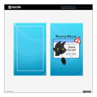 Missing Mouse? Spank the cat! Kindle Fire Skins