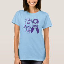 Missing My Husband 1 (Purple Ribbon) T-Shirt