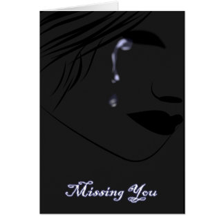 """Missing My Love On Valentine""""s Greeting Cards"""