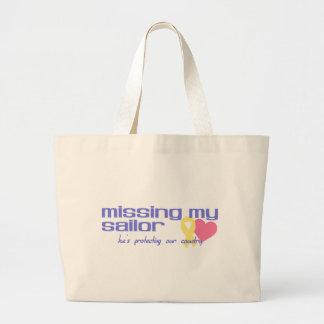 Missing My Sailor Large Tote Bag