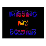 Missing my Soldier Postcard