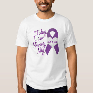 Missing My Son-In-Law 1 (Purple Ribbon) Tee Shirt