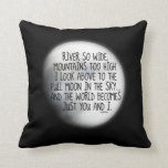 Missing My True Love Poem Throw Pillows
