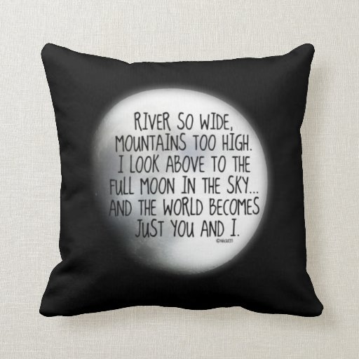 Missing My True Love Poem Throw Pillows