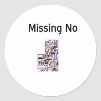 Missing No Product Classic Round Sticker