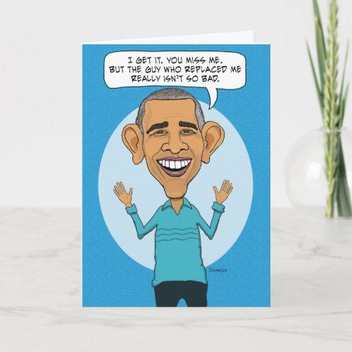 Missing Obama On Birthday Card