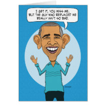 Missing Obama On Birthday Card