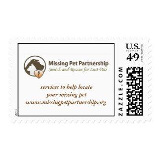 Missing Pet Partnership postage