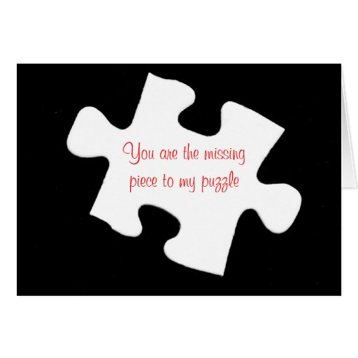 Missing Piece Jigsaw Puzzle Card