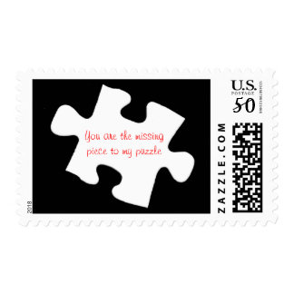 Missing Piece Jigsaw Puzzle Postage