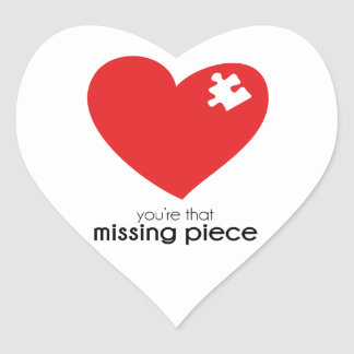 Missing Piece of My Heart Item Heart Sticker