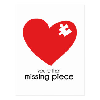 Missing Piece of My Heart Postcard