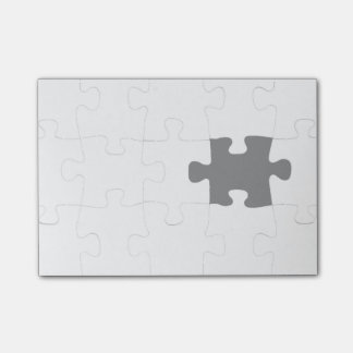 Missing Piece Post-it Notes