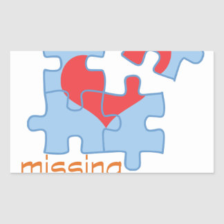 Missing Piece Rectangular Sticker