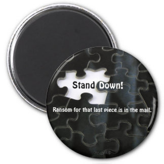 Missing Puzzle Piece 2 Inch Round Magnet