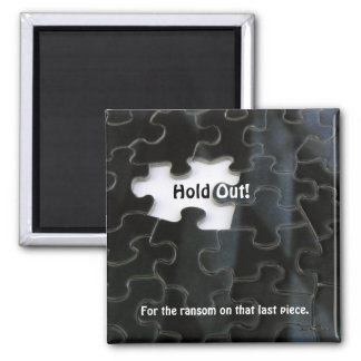 Missing Puzzle Piece 2 Inch Square Magnet