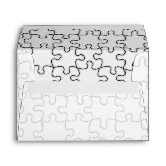 Missing Puzzle Piece (Add Background Image) Envelope