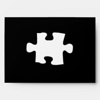 Missing Puzzle Piece All Black Design Envelope