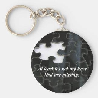 Missing Puzzle Piece Basic Round Button Keychain